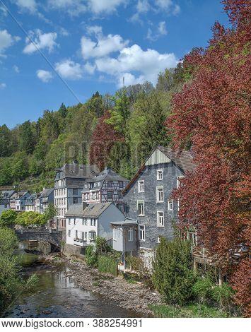 Idyllic Village Of Monschau In The Eifel,germany
