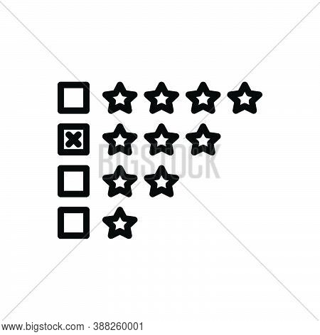Black Line Icon For Average Performance Standard Customer Survey Customer-satisfaction Evaluate Feed