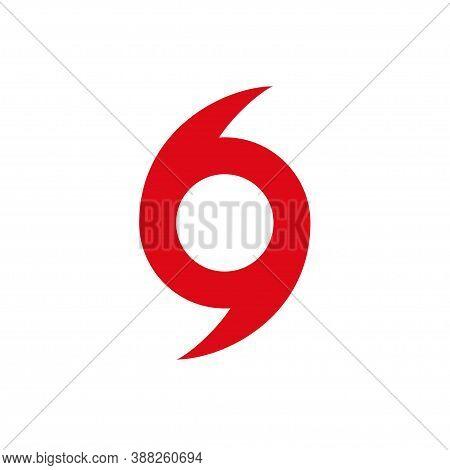 Hurricane Scale Icon, Logo Warning Vector. Vortex Symbol. Cyclone Storm. Severe Damage Tornado. Typh