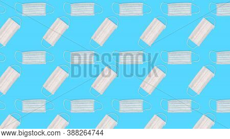 Pattern Seamless Surgical Mask Isolated On Creative Colored Texture