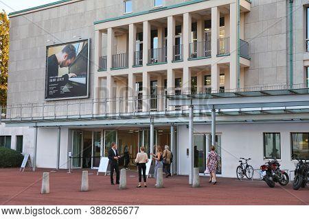 Essen, Germany - September 20, 2020: People Visit Essen Theater And Philharmonic (german: Theater Un