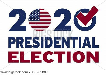 Election Of The President Of The United States Of America 2020. Voting Day, November 3. Elections In