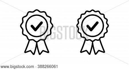 Approval Vector Icon. Certified Seal Isolated. Approved Stamp Sign. Accepted Emblem Illustartion On