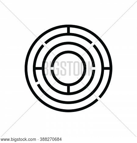 Black Line Icon For Complex Complicated Intricate Sophisticated Difficult Labyrinthine Pattern Puzzl