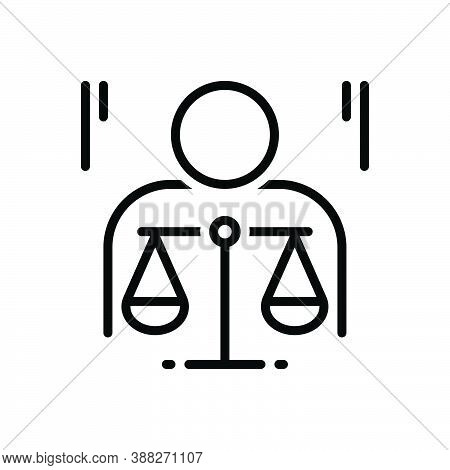Black Line Icon For Ethics Morality Politics Principle Law Justice Balance Honorable
