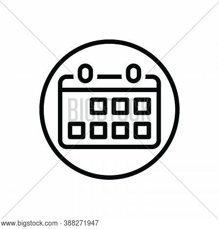 Black Line Icon For Month Period-of-time Time Period Calendar Week Date Occasion Agenda