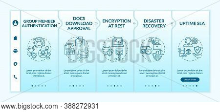 Telecommuting Tool Security Parameters Onboarding Vector Template. Group Member Authentication. Reco
