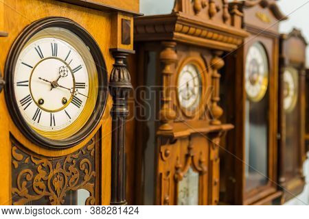 Vintage clocks - abstract time background