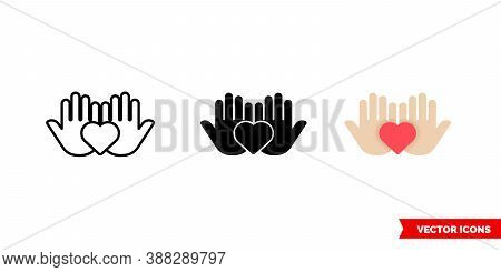 Welfare Icon Of 3 Types Color, Black And White, Outline. Isolated Vector Sign Symbol.