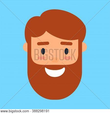 Cartoon Avatar Of Smiling Beard Man, Profile Icon