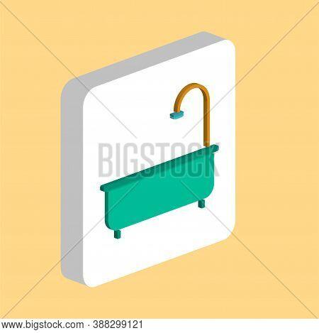Bathtub Simple Vector Icon. Illustration Symbol Design Template For Web Mobile Ui Element. Perfect C