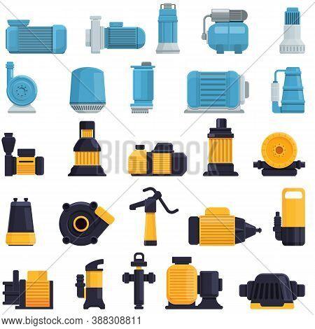 Pump Icons Set. Cartoon Set Of Pump Vector Icons For Web Design