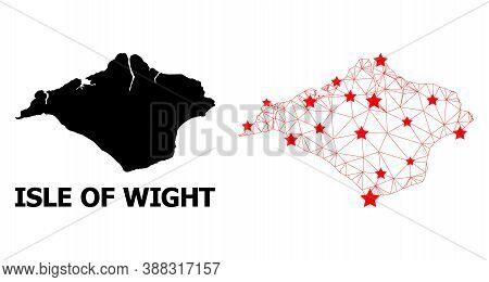 2d Polygonal And Solid Map Of Isle Of Wight. Vector Model Is Created From Map Of Isle Of Wight With