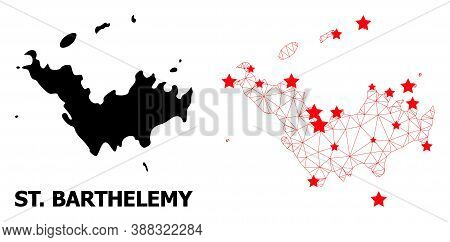 2d Polygonal And Solid Map Of Saint Barthelemy. Vector Model Is Created From Map Of Saint Barthelemy