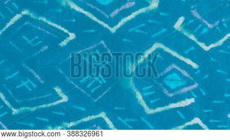 Marine Bohemian Motif. Contemporary Art. Watercolor Lines. Marin Grunge Pattern. Aqua Bohemian Paint