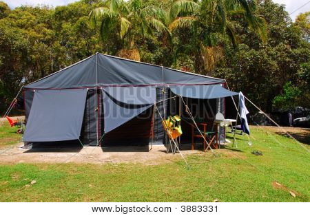 Tent On Camping Site