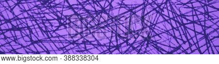 Abstract Mark Scribble. Border Scribble Pencil. Elegant Chaotic Doodles. Scratch Drawn. Magenta Scri