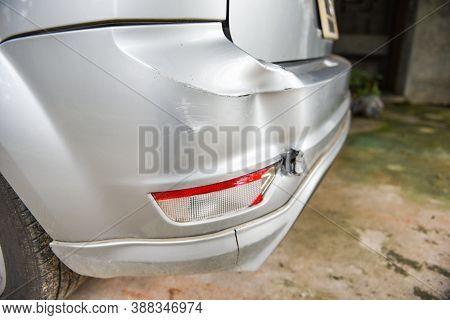 Car Accident Concept / A Taillight Accident Car