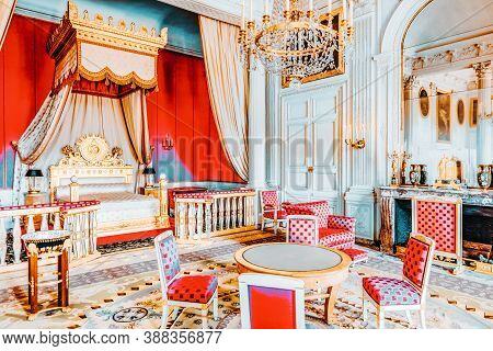 Versailles, France - July 02, 2016 : Chambery(apartments) Of Empress In Grand Trianon. Chateau De Ve
