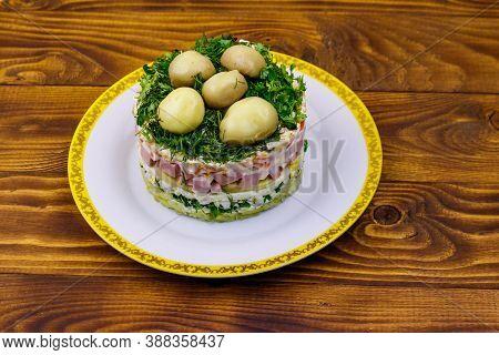 Traditional Russian Layered Salad
