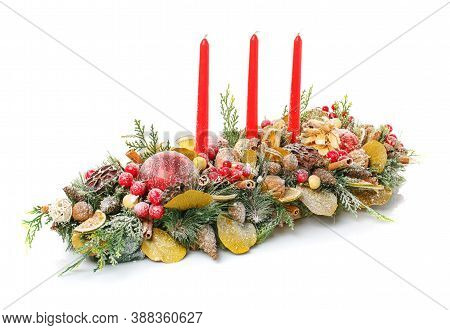 New Year And Christmas Winter Decoration. New Year And Christmas Winter Decoration