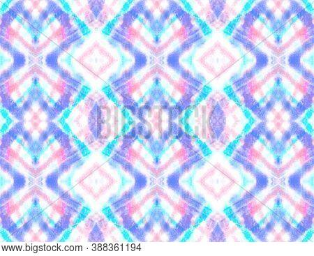 Abstract Kaleidoscope Seamless. Trendy Traditional Wallpaper. Handmade Textured Aquarel Effect. Pink