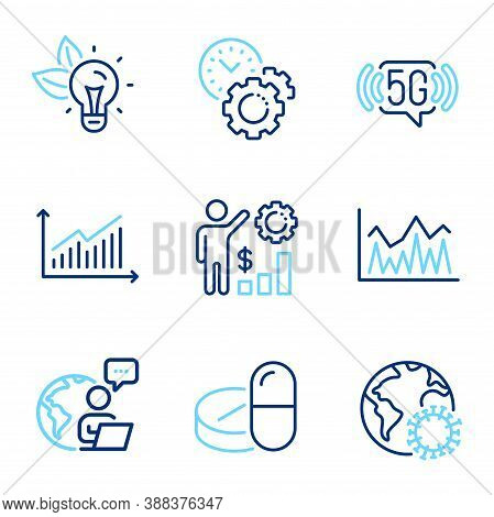 Science Icons Set. Included Icon As Employees Wealth, Investment, Eco Energy Signs. Coronavirus, Gra