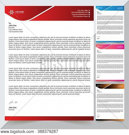 Letterhead Design Template With Vector Format Any Business And Company