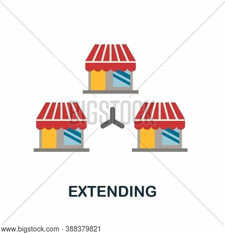 Extending Icon. Simple Element From Branding Collection. Creative Extending Icon For Web Design, Tem
