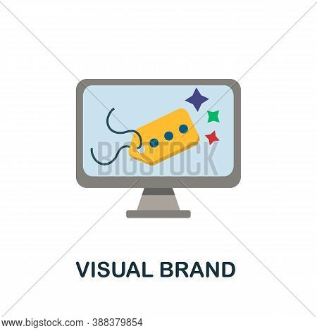 Visual Brand Icon. Simple Element From Branding Collection. Creative Visual Brand Icon For Web Desig