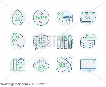 Science Icons Set. Included Icon As Employee Results, Energy, Full Rotation Signs. Methodology, Pie