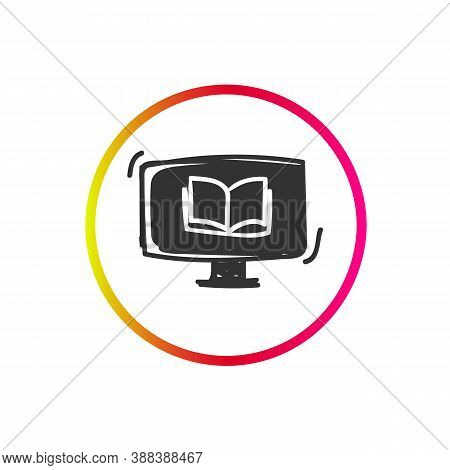 Online Courses Icon. Distanced Education. Internet Training. Express Course.social Media Marketing A