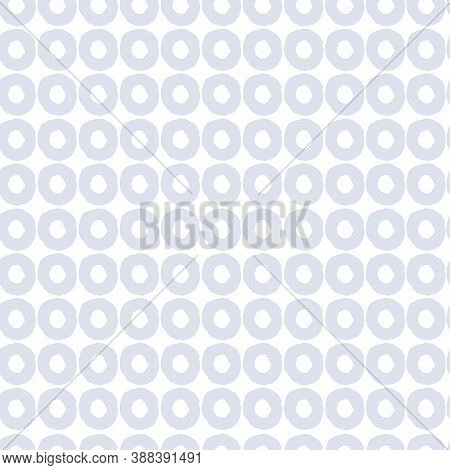 Seamless Geometric Pattern In Pale Delicate Color Range With Hand Drawn Uneven Rings For Wrapping Pa