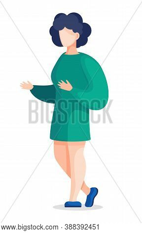 Female Character Working As Nurse Or Medical Worker In Clinic. Isolated Woman, Student Or Intern. Sp