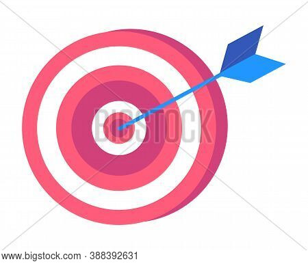 Target With Arrow Isolated Search For Success Concept. Vector Illustration Of Goal, Accuracy Concept