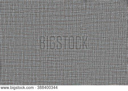 Fabric Texture With Intertwined Gray, White And Brown Threads. Beautiful Tissue Texture For Design.