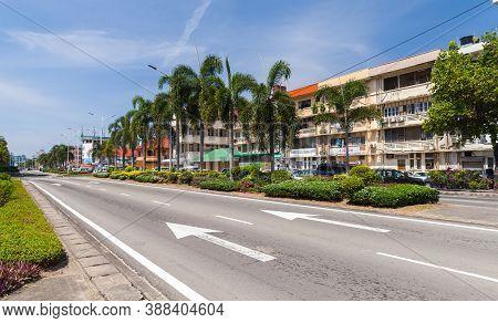 Kota Kinabalu, Malaysia - March 17, 2019: Kota Kinabalu Street View, Jalan K.k. Bypass