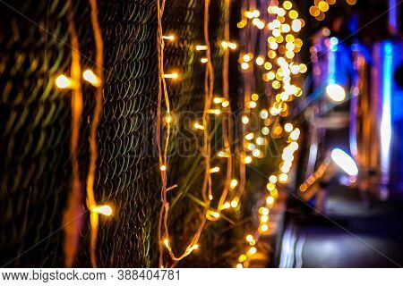 Christmas Lights And Decorations For A Party Event Or Gala Dinner