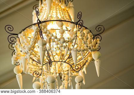 Suspended Chandelier As Interior Decor At Corporate Gala Dinner