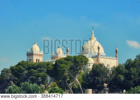Saint Louis Cathedral Is A Catholic Church In Tunisia On Byrsa Hill Among The Ruins Of Ancient Carth