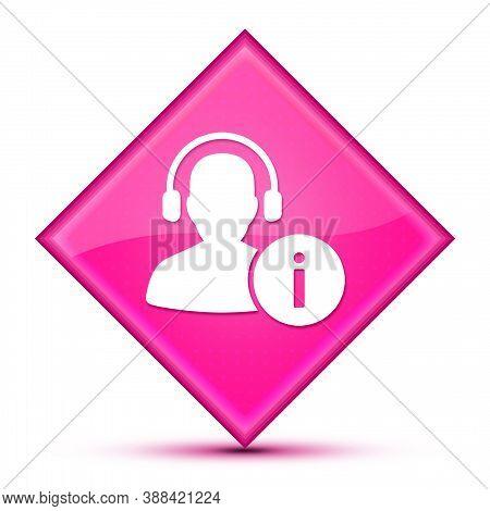 Help Desk Icon Isolated On Luxurious Wavy Pink Diamond Button Abstract Illustration