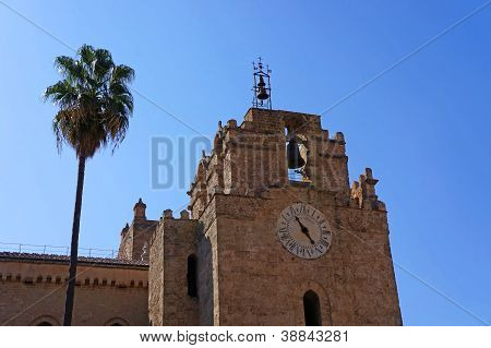 External view of the Cathedral of Monreale in Sicily