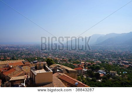 The city of Palermo from Monreale,Sicily
