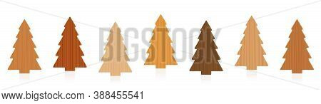 Wooden Deco Tree Set - Different Textures From Various Trees - Simple, Rustic Carpentry Timber Decor