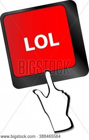 Red Keys Saying Lol On Keyboard Key