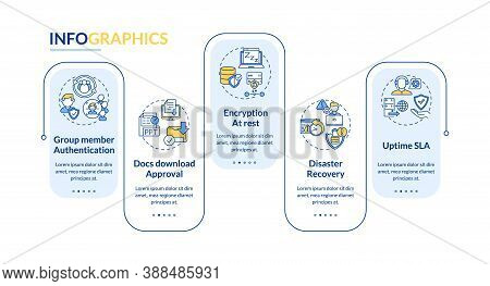 Telework Tool Security Parameters Vector Infographic Template. Disaster Recovery Presentation Design
