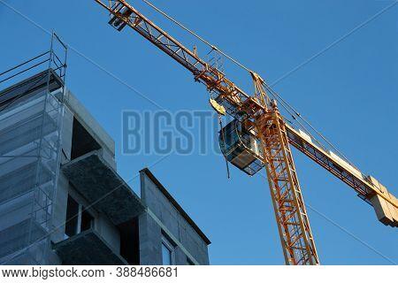 Apartment building block under construction