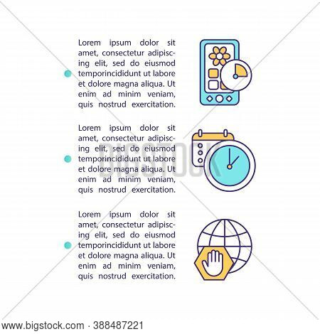 Digital Hygiene Concept Icon With Text. Control Screen Time. Self Discipline. Spending Time In Inter