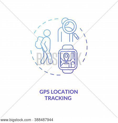 Gps Location Tracking Concept Icon. Navigation System Idea Thin Line Illustration. Sos And Anti-lost