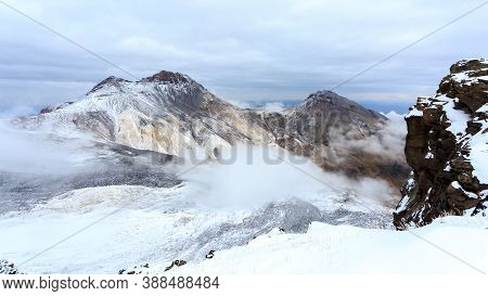 Crater Of Mount Aragats, Northern Summit, At 4,090 M , Armenia.